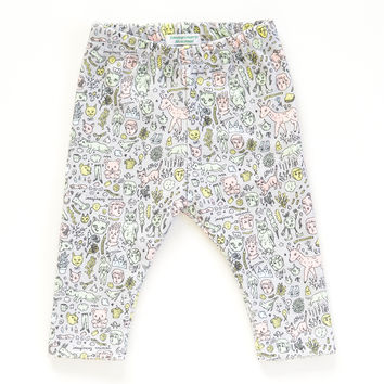 Organic Cotton Doodletown Baby Leggings | Original Fabric by Marie Gardeski