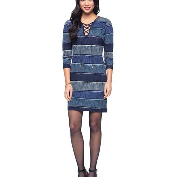 Runaway Fringe Lace-Up Jersey Dress by Juicy Couture