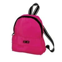 18 Inch Doll Backpack, Sophia's Doll Sized Pink Nylon, Zipper Opening in Hot Pink