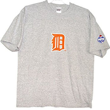 Detroit Tigers (& Pepsi) T-shirt Gray Official MLB Brand NEW (XL)