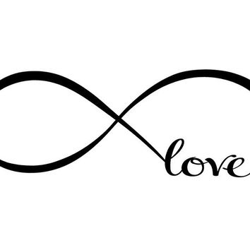 Infinity Symbol Word Love Vinyl Art Wall Sticker