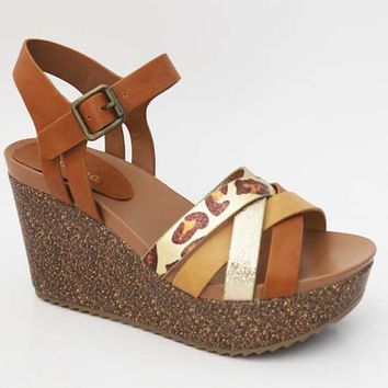 Walking Wild Tan/Cheetah Wedges