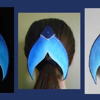 Light blue Dark blue mermaid tail barette mermaid tail hair clip gift for girl