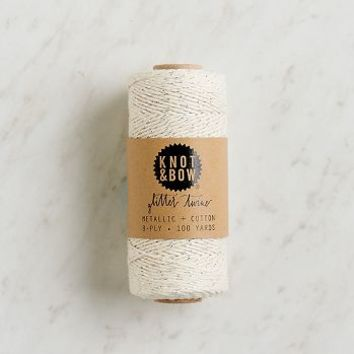 Silver Metallic Natural Twine Spool