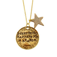 Gold Everything Happens for a Reason Necklace