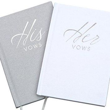 Wedding Vow Book Keepsakes (2 Book Set, His & Hers) Linen Hardcover