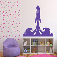 Wall Sticker Vinyl Decal Start picture rocket space stars milky way Unique Gift (n508)