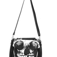 Iron Fist – Loose Tooth Print Leatherette Handbag In Black/White Print | Thirteen Vintage