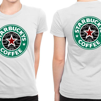 Bucky Barnes The Winter Soldier Starbuck B 2 Sided Womens T Shirt