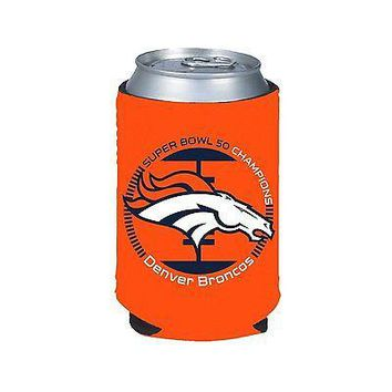 DENVER BRONCOS SUPER BOWL 50 CHAMPIONS NEOPRENE CAN BOTTLE COOZIE KOOZIE