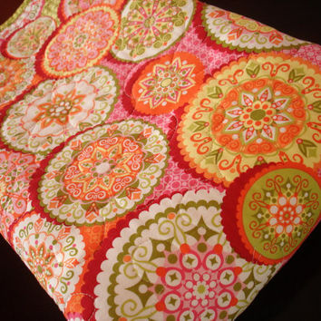 Larged Quilted Chenille Baby Blanket  ready to by TheFiberChick