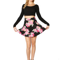 Papaya Clothing Online :: FLORAL PIRNT FALRE MINI SKIRTS