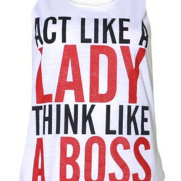 """LADY BOSS"" Tank Top"