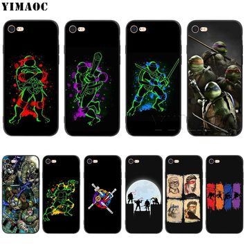 YIMAOC TMNT Ninja Turtles Silicone Soft Case for iPhone XS Max XR X 8 7 6 6S Plus 5 5S SE