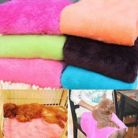 1 x Coral Soft Light Pet Puppy Dog Cat Fleece Blanket Quilt Bed Cushion Pad 3CAU
