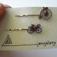 Rad Bicycle Hair Pins