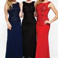 Milano Formals Fitted Marine Ball Dress E1637