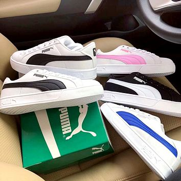 PUMA street fashion men and women low cut breathable canvas shoes