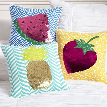 Tutti Fruity Pillow Cover, Watermelon, 16 X 16