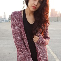 Speckled Cardi - Maroon | Shop Civilized