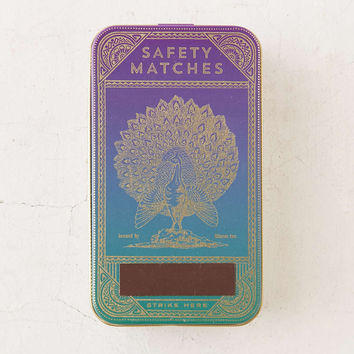 Skeem Inc Peacock Match Tin - Urban Outfitters