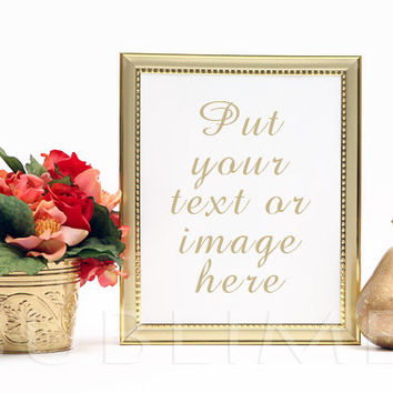 Styled Stock Photography / mock up / Digital Background / Gold Frame /Instant Download / High Resolution JPEG Digital Image / StockStyle-297
