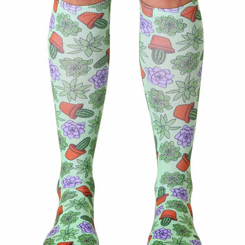 Green Thumb Knee High Socks