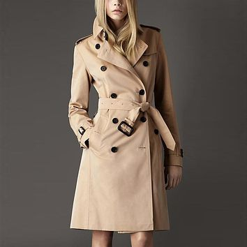 High Quality Autumn Spring Women OL  Solid Elegant Trench Coat Female Fashion Coat With Belt Slim Plus Size Chalecos Mujer 2017