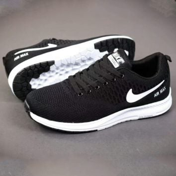 NIKE Men Running Sport Casual Shoes Sneakers Black G-A-YYMY-XY