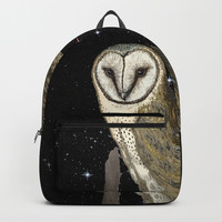 Owl in the Universe Backpack by anipani