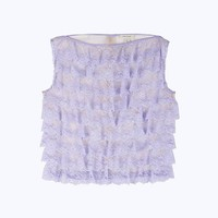 Ruffle Lace Shell Top | Marc Jacobs