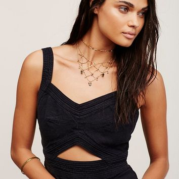 Free People Heart Lines Romper