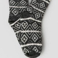 Tribal Plush Lined Slipper Socks