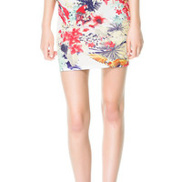 TROPICAL PRINT TUBE SKIRT - Woman - New collection | ZARA United States