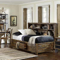 Wild River Twin Size Big Bookcase Bed
