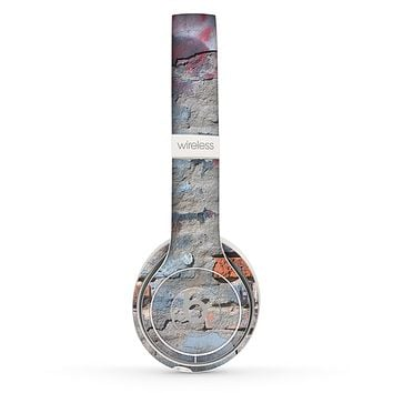 The Blue Chipped Graffiti Wall Skin Set for the Beats by Dre Solo 2 Wireless Headphones