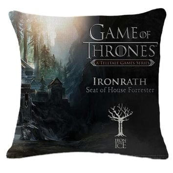 The New Cotton Linen Cushion High Qualtity Game of Thrones Fashion Cojines Sofa Throw Pillow Home Decor Square Almofadas