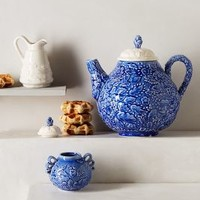 Clavel Tea Set by Anthropologie Blue
