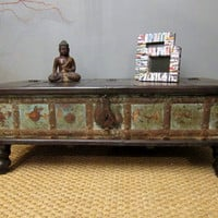 Industrial Chic Storage Coffee Table by hammerandhandimports
