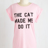 Cats Mid-length Short Sleeves Mew Dunnit?