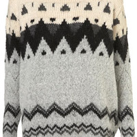 Knitted Chunky Fairisle Jumper - Knitwear  - Apparel