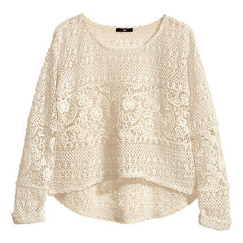 Short Lace Top - from H&M