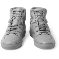 Balenciaga - Panelled Leather High Top Sneakers   MR PORTER