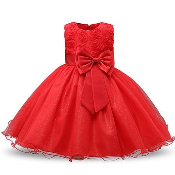 Little Girl's Red Christmas Dress Perfect for the Holidays