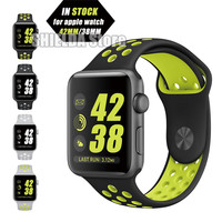 42MM 38MM New Silicone For Apple Watch Band Flixble Black/Volt Black/Gray Silver/Volt Silver/White