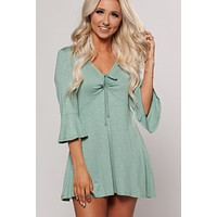 Alisha Cinched Tunic Top (Sage)