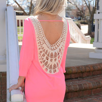 Summer Brights dress, neon pink