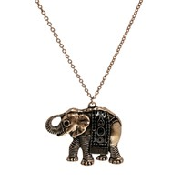 Mango Elephant Long Pendant Necklace