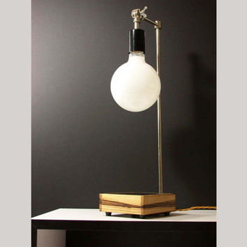 Wood Table Lamp Modern Home Handmade Desk Lighting Bedroom Lamp Foyer Light Office Lamp Sustainable Lighting  Mid Century Inspired