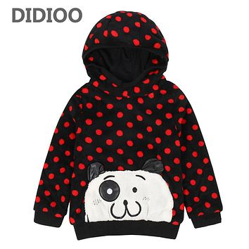 Girls Hoodies Polka Dot Hooded Sweatshirts For Girls Children Clothing Cartoon Tops For Kids Autumn Outerwear